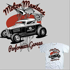 AUTO SPORTIVA rockabilly garage Speed Shop Kustom MOTORS VINTAGE T-SHIRT 1053 W