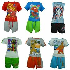 Garçons Spiderman Ninja Turtles Scooby Doo George Pig Ensemble T-shirt et Shorts