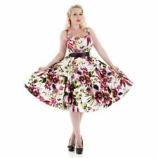 H&R London Kleid WHITE RED FLORAL LONG DRESS 2017