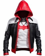Batman Arkham Knight Game Red Hood Real Leather Jacket & Vest Costume