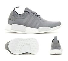 Adidas Original's NMD R1 Primeknit PK Grey / White Sizes UK 6-12