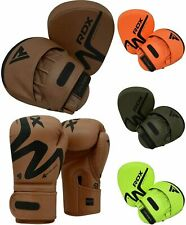 RDX Colpitori Boxe Kick Boxing Guanti da Boxe Allenamento Muay Thai Gloves IT