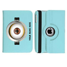 Personalised Minions 10 THE EYE Rotating Case Cover for ALL Apple iPad tablets
