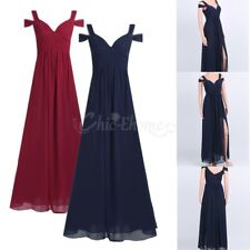 Womens Long Chiffon Bridesmaid Dresses Formal Party Evening Cocktail Ballgown