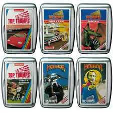TOP TRUMPS RETRO COLLECTION CARD GAMES IN CLEAR CASSETTE CASE BY WINNING MOVES!