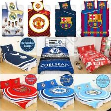 Football Clubs Juego Funda Edredón Individual Doble - Arsenal Barcelona Chelsea