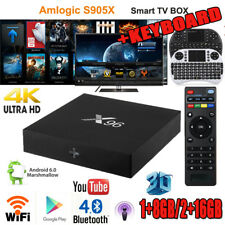 X96 1GB/2GB+8GB/16GB Quad Core 3D Smart TV Box 4K*2K Android 6.0 + Mini Tastiera