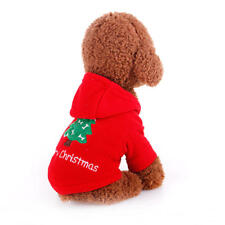 Cute Dog Christmas Coat Clothes Jacket Costume Winter Warmer Apparel