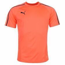 Puma Evo Training T-Shirt Mens Coral/Black Football Soccer Top Tee Shirt