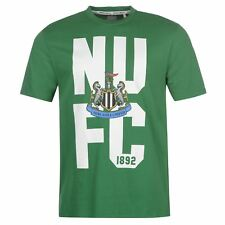 Newcastle United FC Crest T-Shirt Mens Green Football Soccer Top Tee Shirt