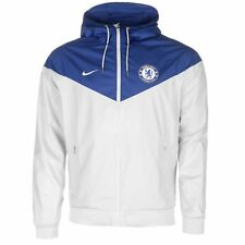 Nike Chelsea FC Woven Authentic Jacket Mens Platinum/Blue Football Soccer Top