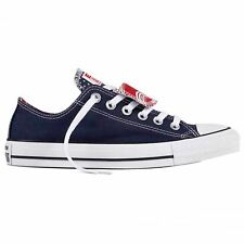 Converse Chuck Taylor AllStar Ox Marine Blanc Femme Toile Low Top Baskets