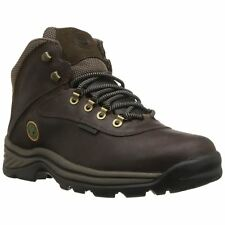 Timberland Blanc Ledge Mid Imperméable Marron Hommes Cuir Hiking Ankle Bottes