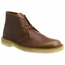 Clarks Originals Desert Tan Hommes Cuir Lace-up Classic Ankle Bottes Chaussures
