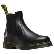 Dr.Martens 2976 Black Mens Leather Chelsea Twin Gussets Pull on Ankle Boots