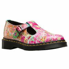 Dr.Martens Polley Daze Multi Womens T-Bar Buckle Low-profile Printed Shoes