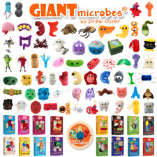 Giant Microbes Key Rings Original Themed Gift Box Set Plush Educational Soft Toy