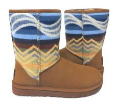 New Ugg Classic Short Pendleton Chestnut Southwest Aztec Shearling Boots RARE!!