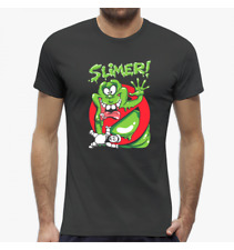 T-SHIRT UOMO SLIMER MOVIES GHOSTBUSTERS ACCHIAPPAFANTASMI VT0039A PACDESIGN