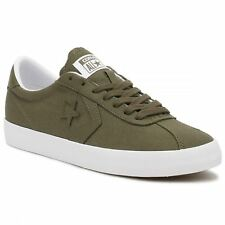 Converse Breakpoint Ox Medium Olive White Womens Canvas Low Top Trainers