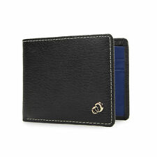 Multi Card Minimalist Slim Leather Mens Bifold Wallet, w/ Rear Pocket