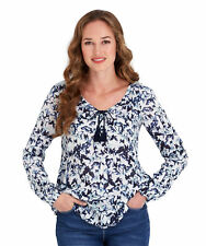 Joe Browns Women's Long Sleeved Blouse with Butterfly print