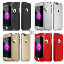 Hybrid 360° Shockproof Case Tempered Glass Cover For iPhone 6 6Plus 7 8 Plus X