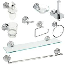 "Wall Mounted Chrome ""Fidelity"" Bathroom Accessories"