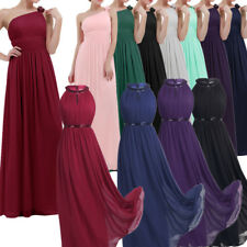 Women Formal Chiffon Long Dress Prom Evening Party Cocktail Bridesmaid Wedding