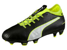 Puma Junior Football Boots Firm Ground EvoTouch 3 FG Black/White/Green