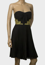 ELISE RYAN - Ladies Black Gold Strapless Dress - Brand New