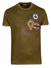 DSQUARED T-Shirt S71GD0488S22427 olive 100% Baumwolle / Cotton