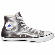 Converse Chuck Taylor All Star Hi Gunmetal White Mens Sneakers Trainers