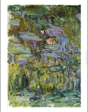 """CLAUDE MONET """"Water Lilies"""" print NEW ON CANVAS choose SIZE, from 55cm up, NEW"""