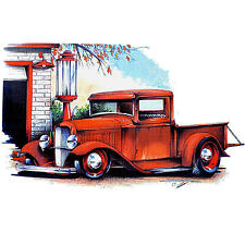 VINTAGE TRUCK CAMISETA HOT ROD CLASSIC FORD COCHE 40s Camioneta Auto Oldtimer