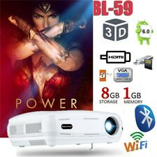 LED HD 1080P 3200Lumens WIFI ANDROID 1+8G 3D ATV Bluetooth Proyector Teatro Casa