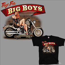 Biker Motorcycle Pinup Classic Vintage Harley Theme T-Shirt Classic Car 4214 Bl