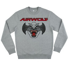 AIRWOLF Distressed Print Sweater Retro Vintage 80s Streethawk Thundercats Mens