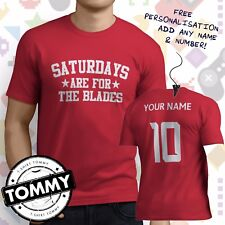 Sheffield United Fan T-Shirt, Saturdays Are For, Sheff Utd Blades tshirt,