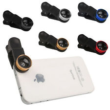 3 in1 Fish Eye + Wide Angle +Macro Camera Clip-on Lens for iPhone 6/ Plus/ 5S UK