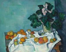 """Paul Cezanne : """"Still Life with Apples and Primroses"""" (c.1890) — Fine Art Print"""