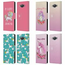 HEAD CASE DESIGNS SASSY UNICORNS LEATHER BOOK WALLET CASE FOR SAMSUNG PHONES 2
