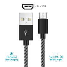 Fish Net Strong Braided 2.4A Micro USB Cable Fast Charging Data Cable Lead