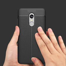 Luxury ★LEATHER LOOK TEXTURE★Soft TPU Back Case Cover FOR XIAOMI MI REDMI NOTE 4