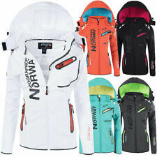 N623 Geographical Norway Damen Softshell Outdoor Funktions Jacke mit Kapuze
