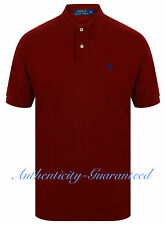 Ralph Lauren Mens Classic Fit Short Sleeve Polo Shirt Wine S - XXL RRP £75 BNWT