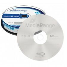 MediaRange BD -R HTL 25 GB up to 6x speed cake box 10 Supporti Vergini MR499
