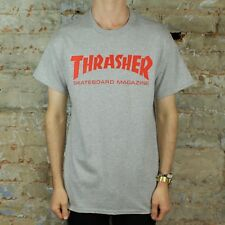 Thrasher Stock Logo T-Shirt – Grey / Red Brand New in size S,M,L,XL