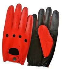 Mens Womens Leather Driving Gloves Soft Top Quality Fashion Dress Retro Classic