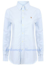 Ralph Lauren Womens Custom Fit Stripe Oxford Shirt Blue S -XL RRP £85 SALE!